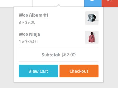 WooCommerce dropdown cart