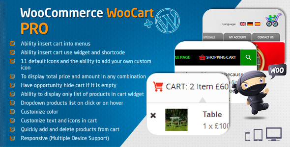WooCart Pro - Dropdown Cart for WooCommerce